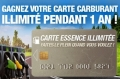 Carte essence illimit�e � gagner