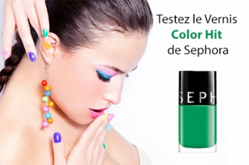 Vernis Color Hit de Sephora à tester
