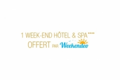 1 week-end Hotel et spa offert par Weekendeo